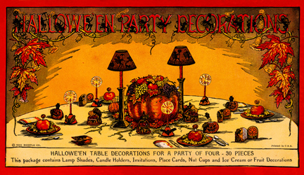 1923 beistle halloween party decoration set - German Halloween Decorations